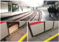 [Vienna]New curved platforms are rarely allowed because of the inevitable gap (as train carriages are not curved) but on historical stations such as Hietzing, which was part of the 19th century Vienna Stadtbahn and converted into the U4 U-Bahn line in 1981, the risk to passengers can be avoided with 'gap fillers' that open and close with the doors. Not all trains have this feature yet