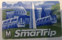 [Washington DC]Washington DC transport smartcard ticketing - SmarTrip stored value card