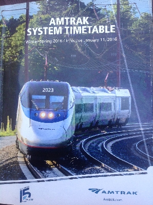 [Washington DC]Front cover of the Amtrak system timetable