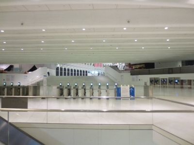 [New York]Concourse of the new World Trade Center station in New York