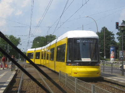 [Berlin]These 7 section Bombardier Flexity light rail vehicles are the most modern in the Berlin fleet and operate on the busiest routes. The picture is of one not despoiled by advertisements restricting the view of the city from the tram