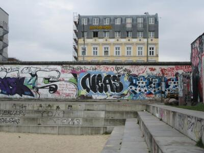 [Berlin]There is a fine line between graffiti and art – it depends on the location. This is the Berlin Wall. Photo by Nigel Perkins