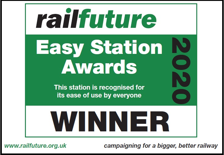 Mock-up of a plaque paid for by Railfuture East Anglia that it has proposed be erected at Greater Anglia stations where recent improvements have been made