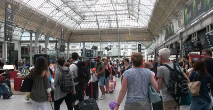 Gare de Lyon station in Paris is very welcoming as this shot of a large, bright and airy concourse shows