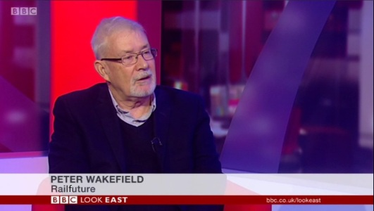 Railfuture East Anlgia's Peter Wakefield on BBC Look East (speaking from their studio in Cambridge) on 11th October 2017 about the planned Great Northern timetable changes