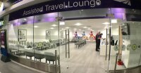 Photo of the 'assisted travel' lounge that Network Rail opened at Birmingham New Street station in 2019, which is intended to be used by people who need additional help to board trains