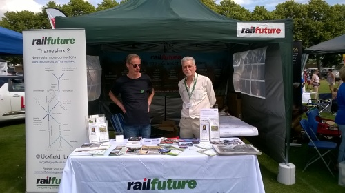 Railfuture stall with Mike T and Chris P